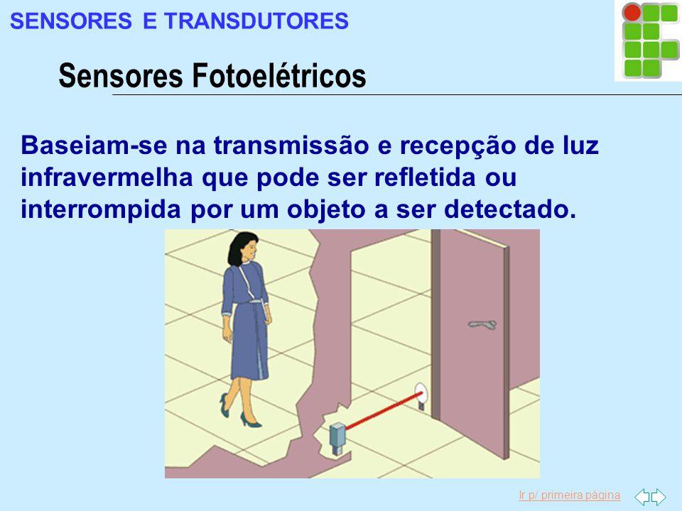 Ir p/ primeira página Baseiam-se na transmissão e recepção de luz infravermelha que pode ser refletida ou interrompida por um objeto a ser detectado.