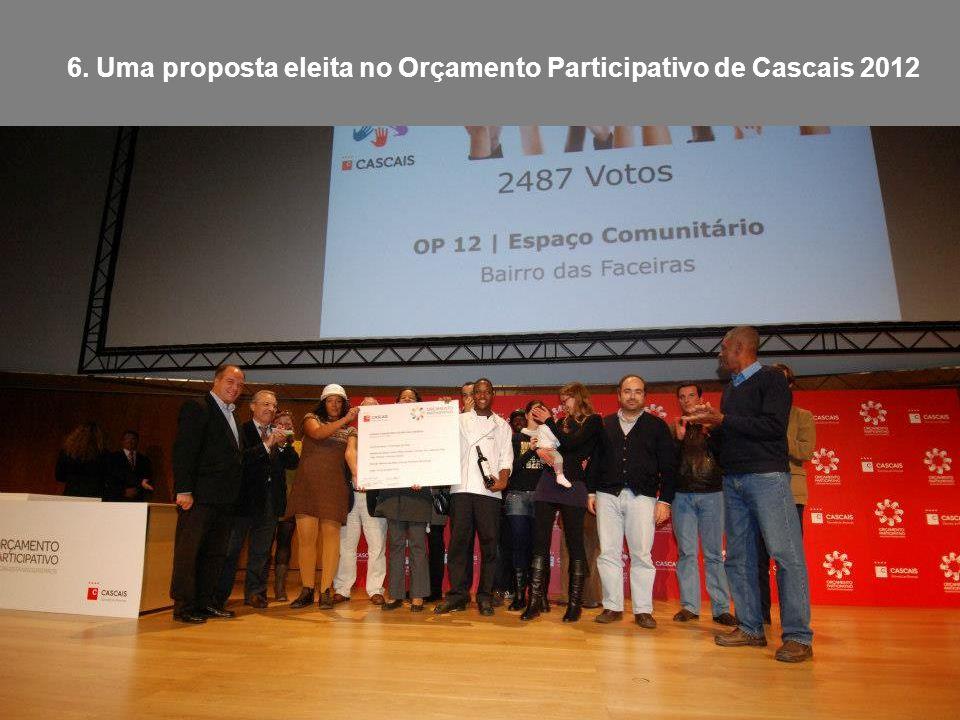 6. Uma proposta eleita no Orçamento Participativo de Cascais 2012