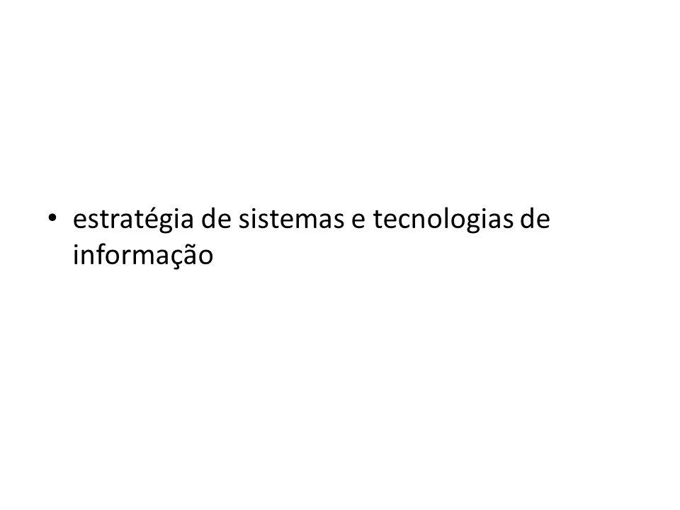estratégia de sistemas e tecnologias de informação
