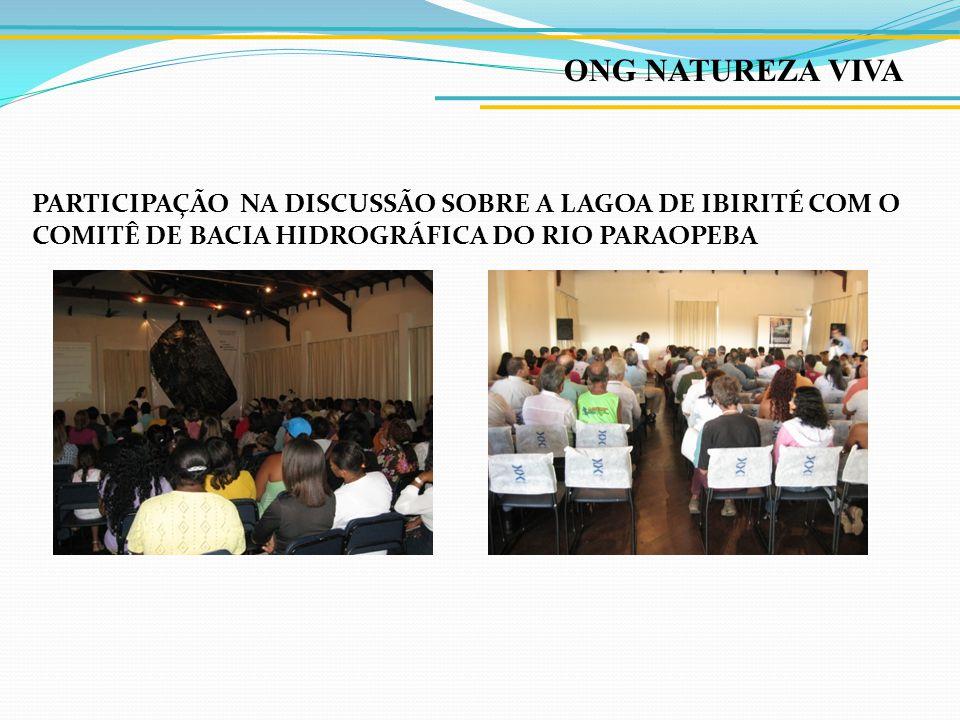 ONG NATUREZA VIVA Abraço simbólico na Lagoa de Ibirité