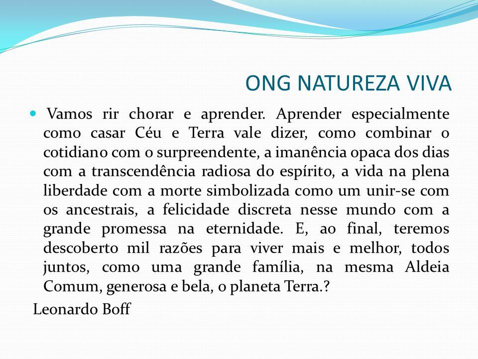 Ibirité, 3 de julho de 2012 Muito Obrigado Anderson Mourão ONG Natureza Viva ONG NATUREZA VIVA