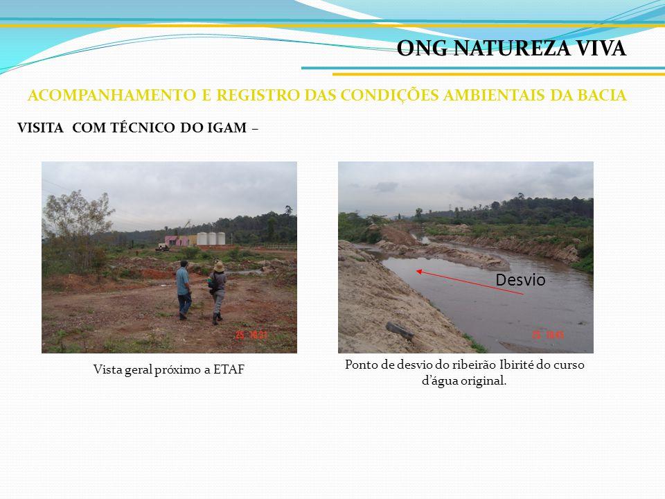 ONG NATUREZA VIVA ACOMPANHAMENTO E REGISTRO DAS CONDIÇÕES AMBIENTAIS DA BACIA CanaãDistrito Industrial