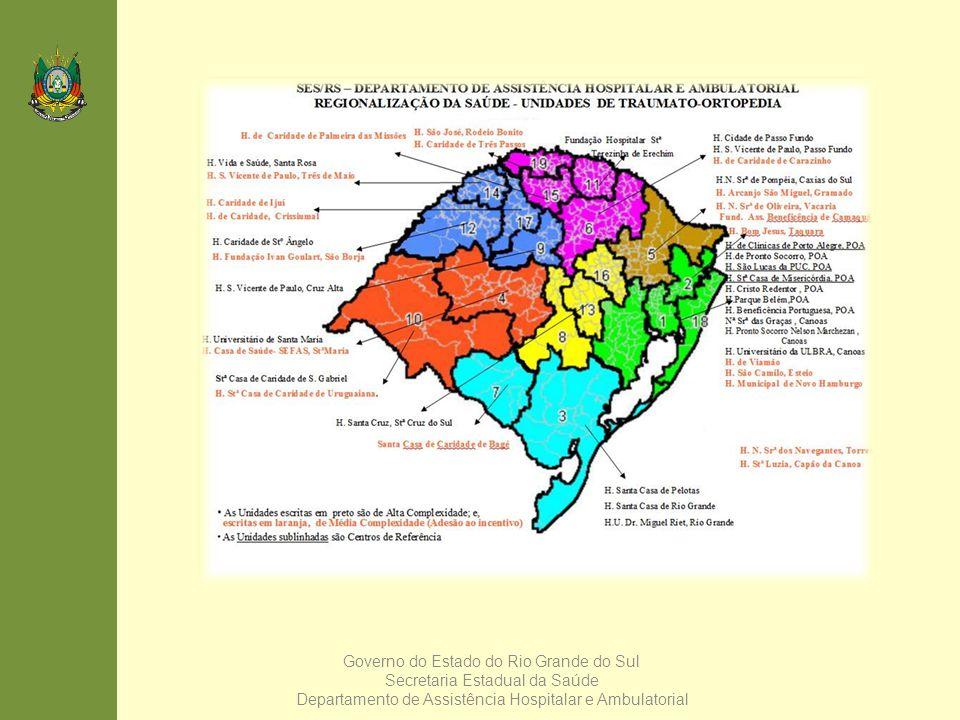 Governo do Estado do Rio Grande do Sul Secretaria Estadual da Saúde Departamento de Assistência Hospitalar e Ambulatorial