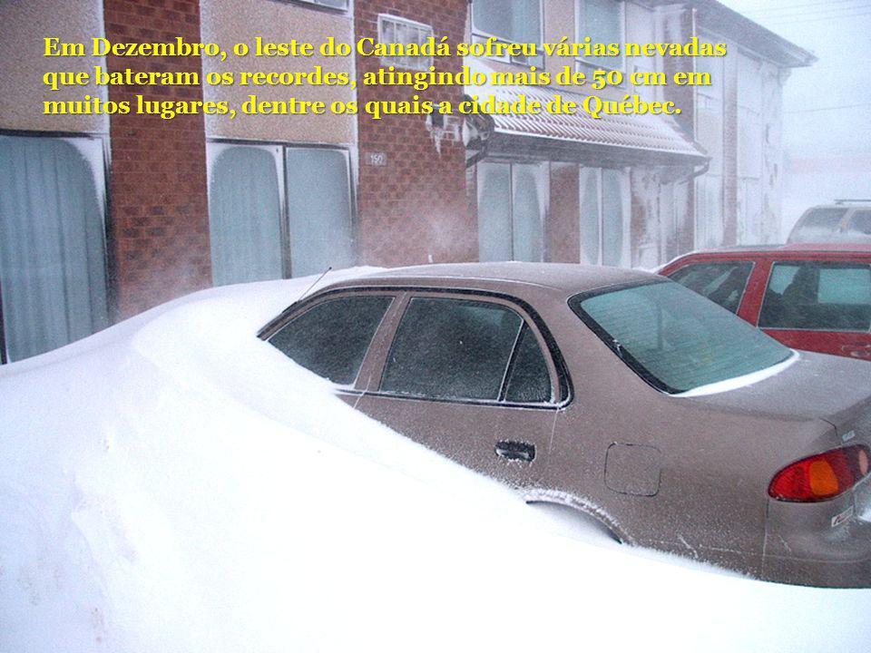 Em Dezembro, o leste do Canadá sofreu várias nevadas que bateram os recordes, atingindo mais de 50 cm em muitos lugares, dentre os quais a cidade de Q