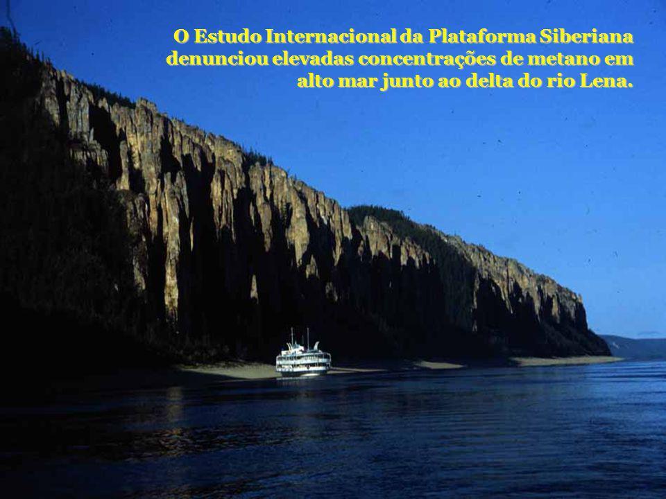 O Estudo Internacional da Plataforma Siberiana denunciou elevadas concentrações de metano em alto mar junto ao delta do rio Lena.