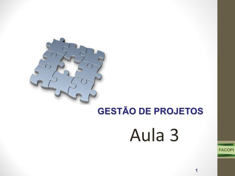 GESTÃO DE PROJETOS 1 Aula 3
