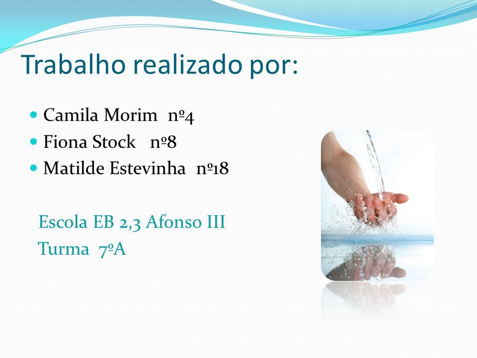 Trabalho realizado por: Camila Morim nº4 Fiona Stock nº8 Matilde Estevinha nº18 Escola EB 2,3 Afonso III Turma 7ºA