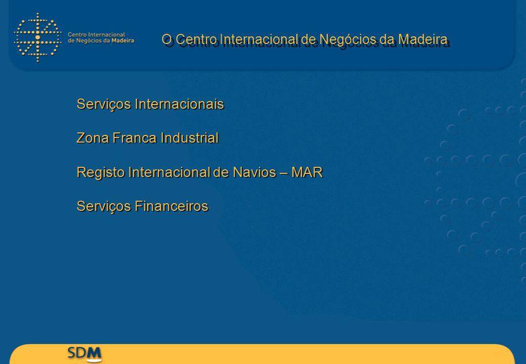 Serviços Internacionais Zona Franca Industrial Registo Internacional de Navios – MAR Serviços Financeiros Serviços Internacionais Zona Franca Industri