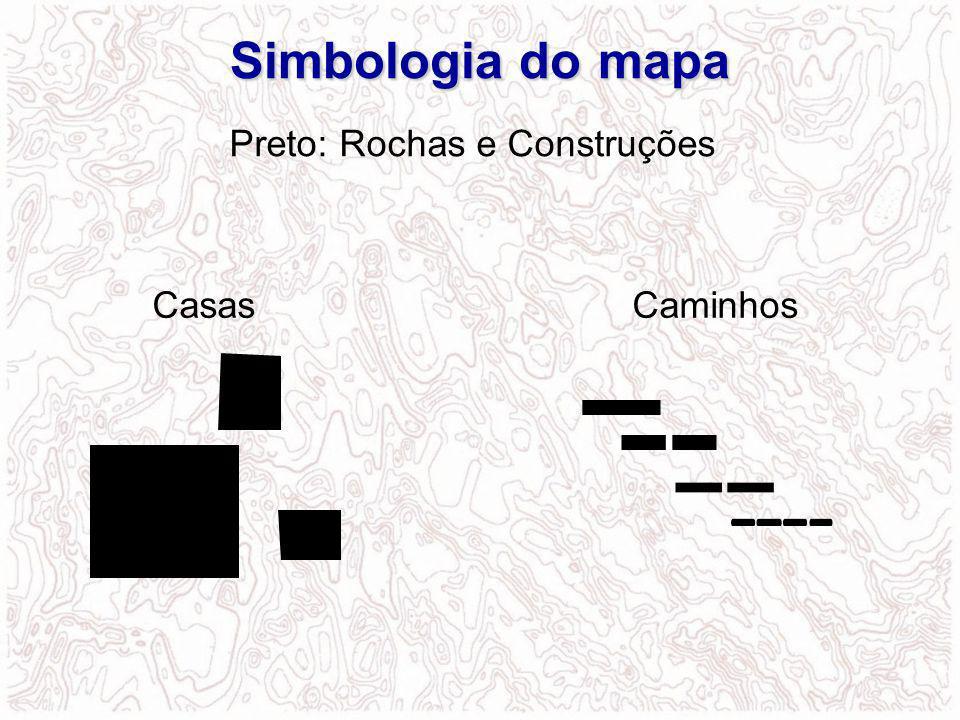 CasasCaminhos Preto: Rochas e Construções Simbologiadomapa Simbologia do mapa