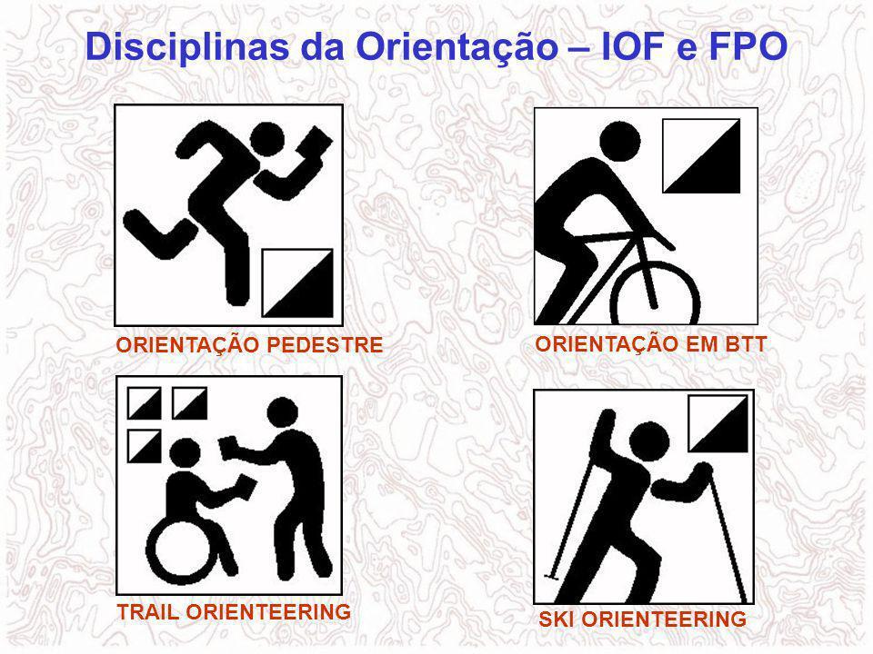 Disciplinas da Orientação – IOF e FPO ORIENTAÇÃO PEDESTRE ORIENTAÇÃO EM BTT TRAIL ORIENTEERING SKI ORIENTEERING