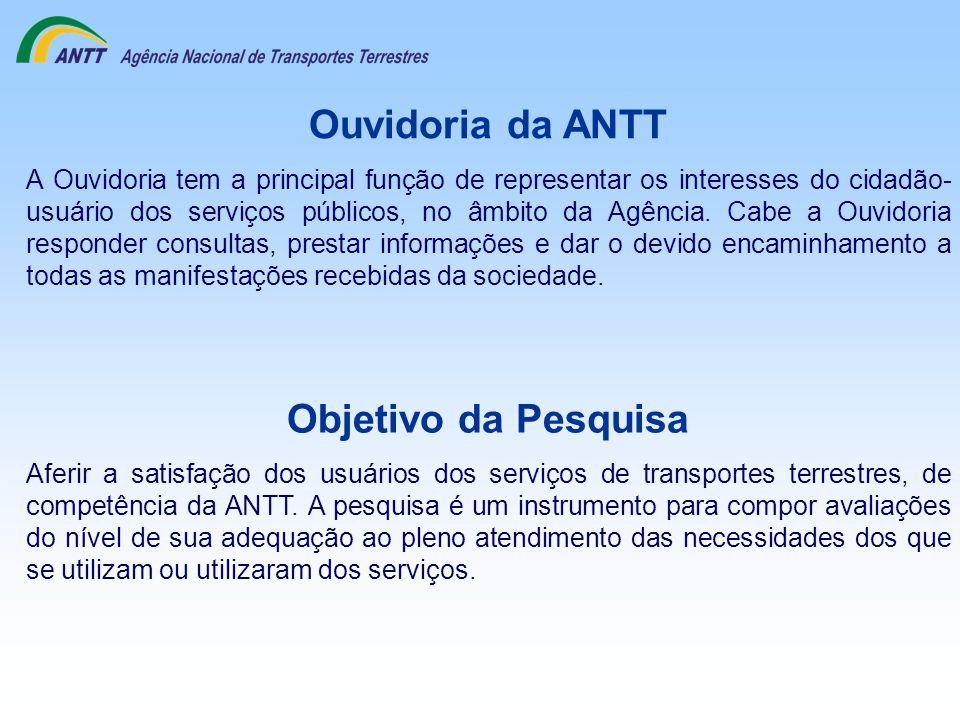 Ouvidoria da ANTT A Ouvidoria tem a principal função de representar os interesses do cidadão- usuário dos serviços públicos, no âmbito da Agência. Cab