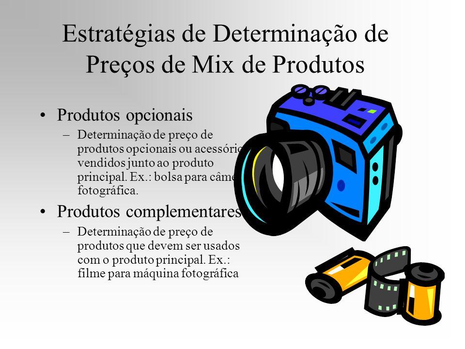 Estratégias de Determinação de Preços de Mix de Produtos Produtos opcionais –Determinação de preço de produtos opcionais ou acessórios vendidos junto
