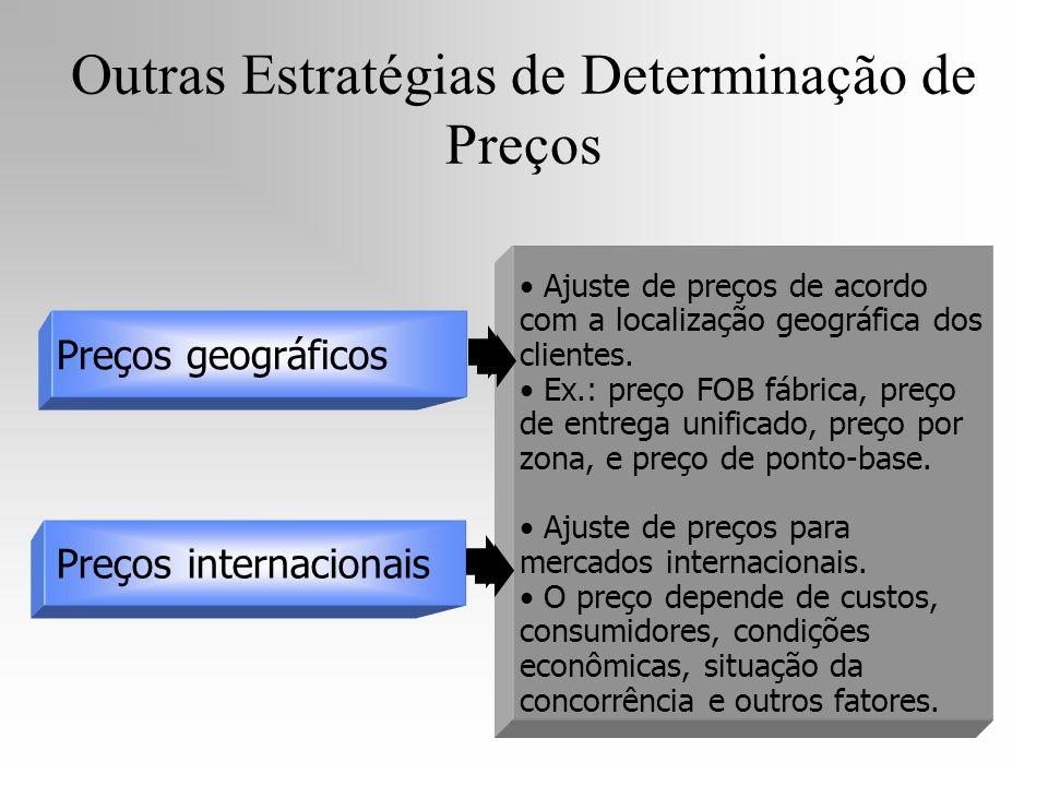 Ajuste de preços de acordo com a localização geográfica dos clientes. Ex.: preço FOB fábrica, preço de entrega unificado, preço por zona, e preço de p