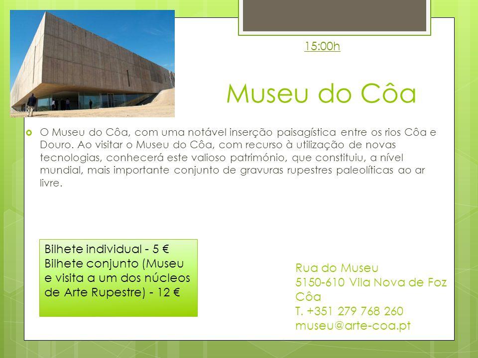 Museu do Côa O Museu do Côa, com uma notável inserção paisagística entre os rios Côa e Douro.