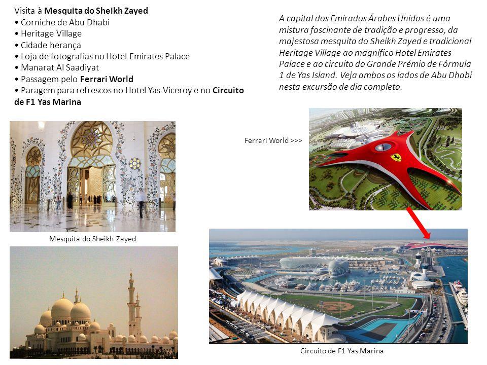 A capital dos Emirados Árabes Unidos é uma mistura fascinante de tradição e progresso, da majestosa mesquita do Sheikh Zayed e tradicional Heritage Vi