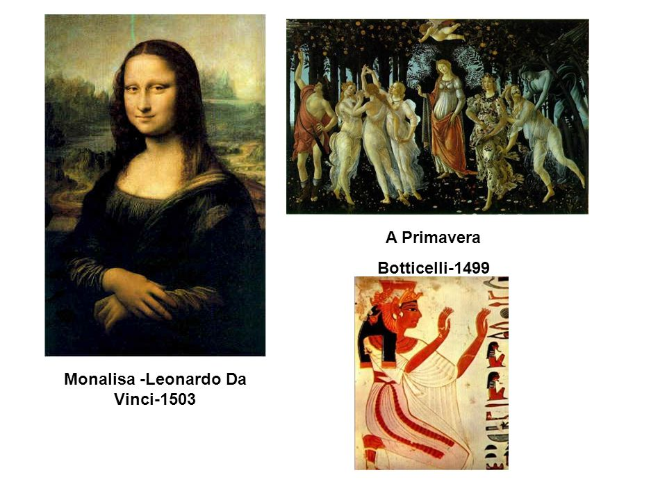 Monalisa -Leonardo Da Vinci-1503 A Primavera Botticelli-1499