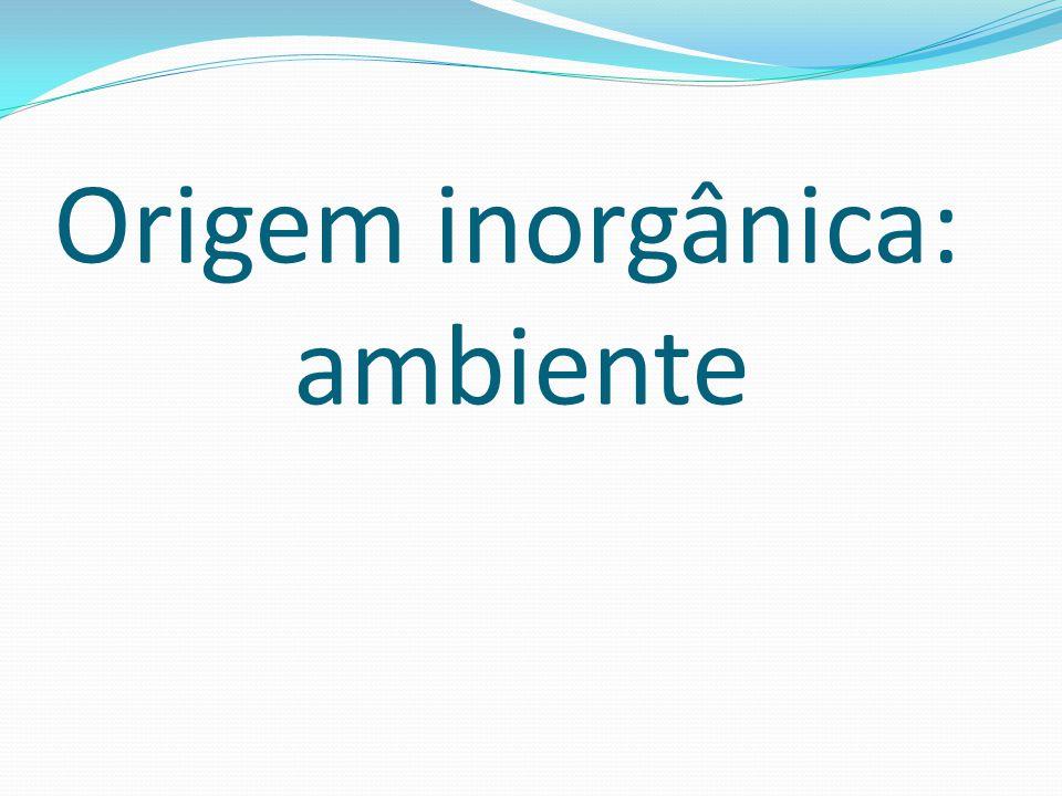Origem inorgânica: ambiente