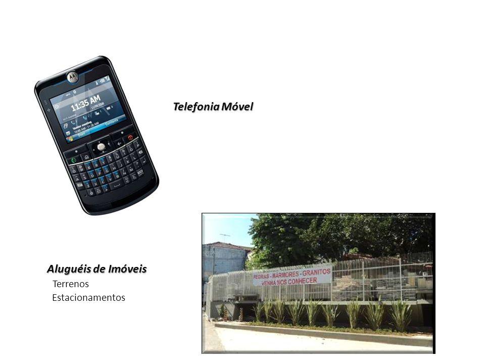 Telefonia Móvel Aluguéis de Imóveis Terrenos Estacionamentos