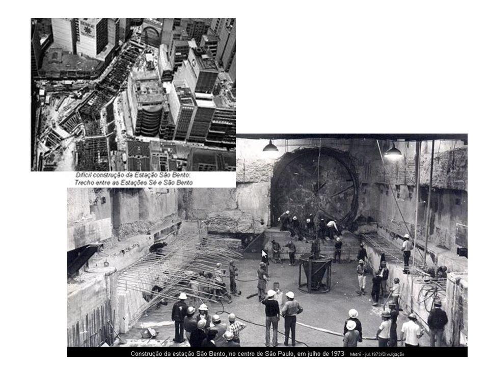 10.nov.1976: Obras da linha leste-oeste do metrô de São Paulo