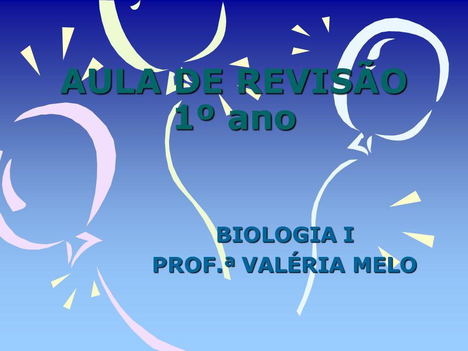AULA DE REVISÃO 1º ano BIOLOGIA I PROF.ª VALÉRIA MELO
