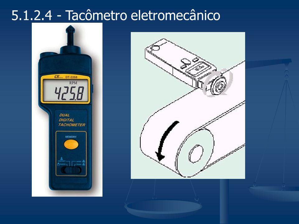 5.3 - Medição de potência mecânica A grandeza potência mecânica é uma grandeza derivada de das grandezas torque e rotação, que podem ser medidas diretamente: P = T.
