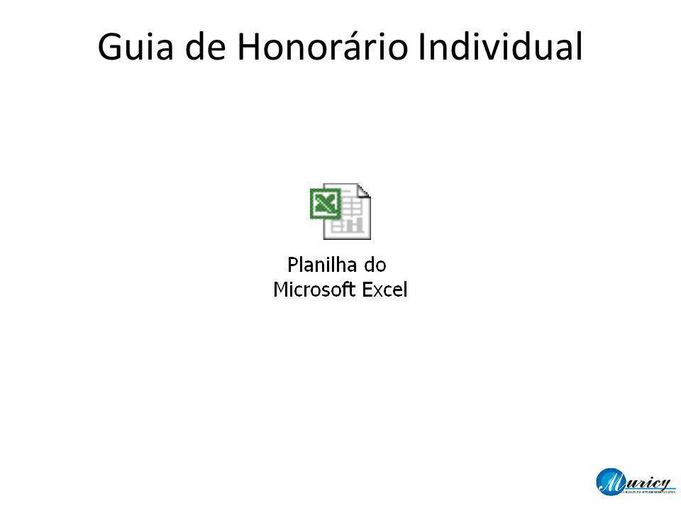 Guia de Honorário Individual