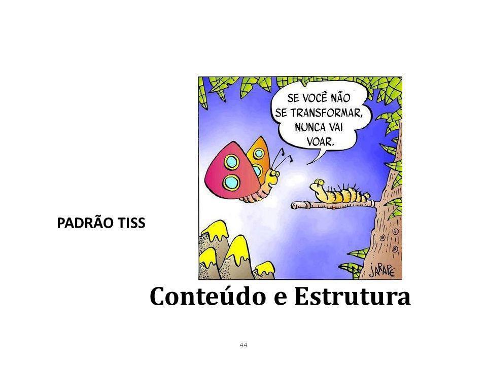 44 Conteúdo e Estrutura PADRÃO TISS