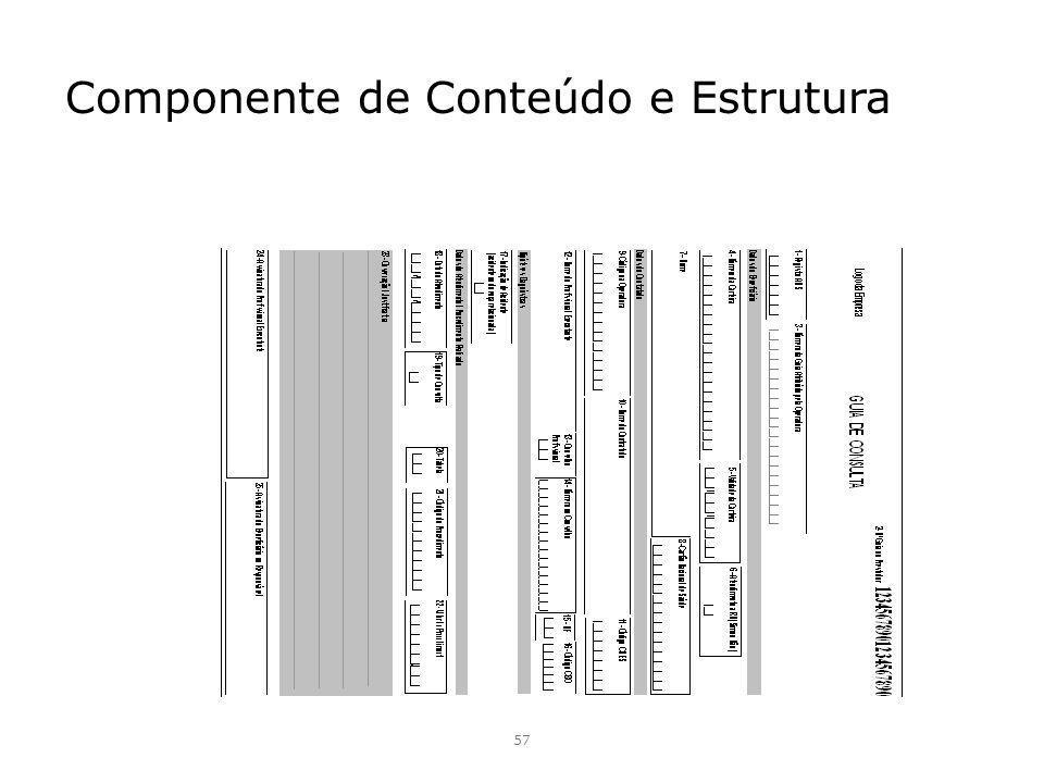 Componente de Conteúdo e Estrutura 57