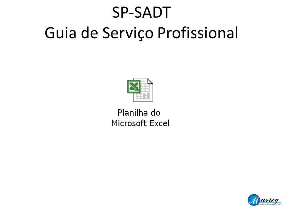 SP-SADT Guia de Serviço Profissional