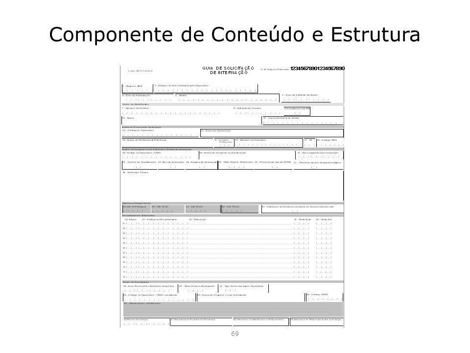 Componente de Conteúdo e Estrutura 69