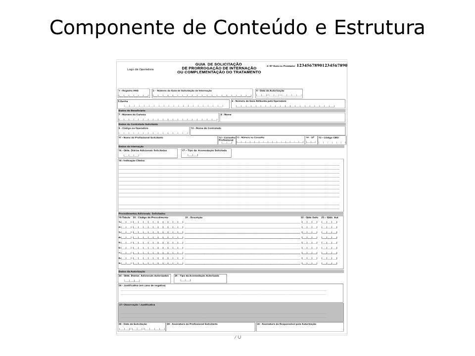 Componente de Conteúdo e Estrutura 70