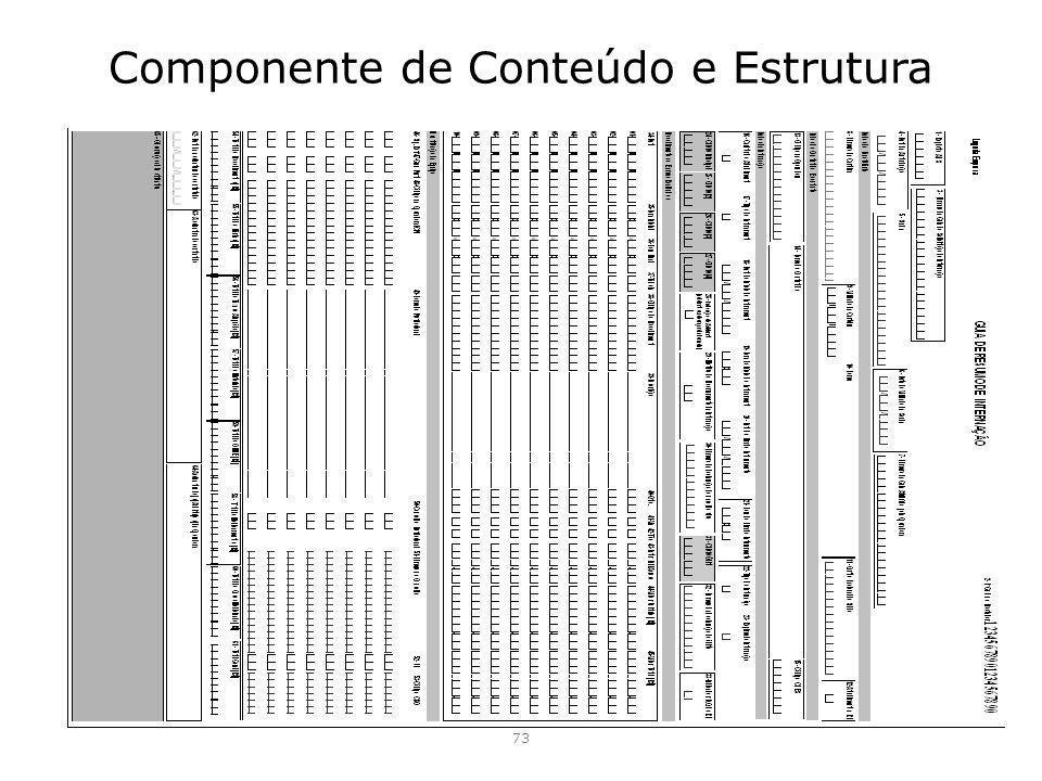 Componente de Conteúdo e Estrutura 73