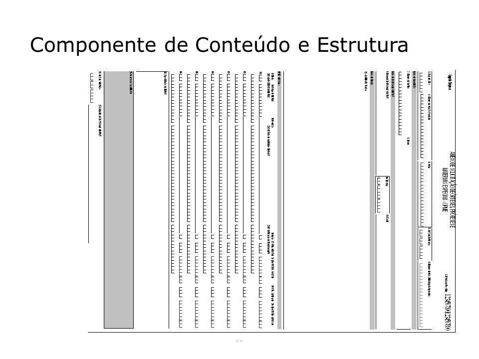 Componente de Conteúdo e Estrutura 77