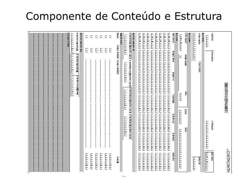 Componente de Conteúdo e Estrutura 81