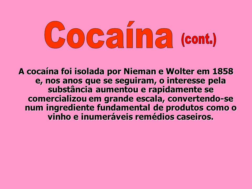 Depois da descoberta da América, a cocaína não despertou grande interesse entre os conquistadores. Por um lado, a Igreja proibiu a mastigação da folha
