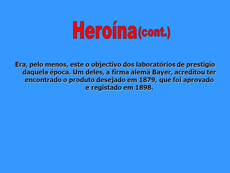 Devido ao elevado número de viciados em morfina e às nefastas consequências que esta droga trouxe à sociedade no século XIX, impôs-se a necessidade de