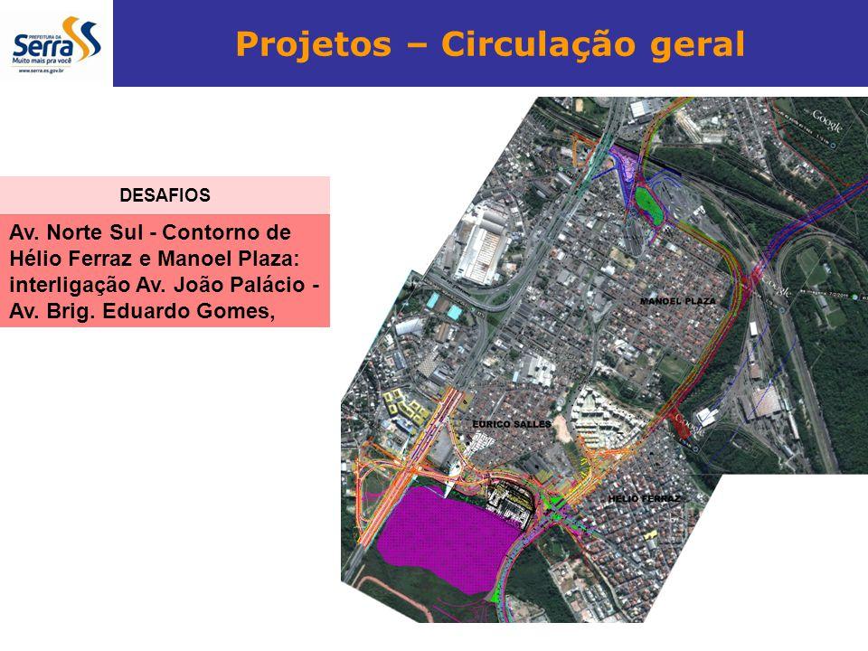 Projetos – Circulação geral Av. Norte Sul - Contorno de Hélio Ferraz e Manoel Plaza: interligação Av. João Palácio - Av. Brig. Eduardo Gomes, DESAFIOS