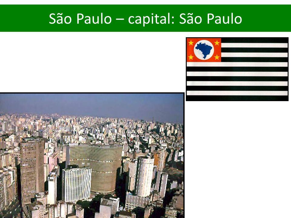 São Paulo – capital: São Paulo