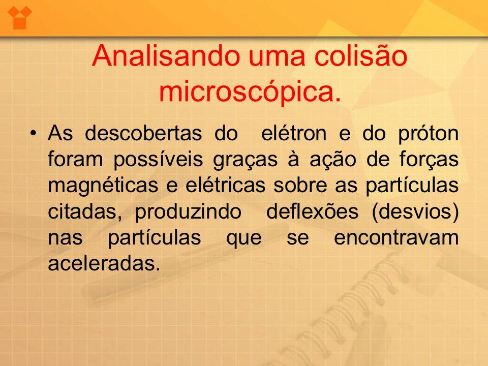 Analisando uma colisão microscópica. As descobertas do elétron e do próton foram possíveis graças à ação de forças magnéticas e elétricas sobre as par