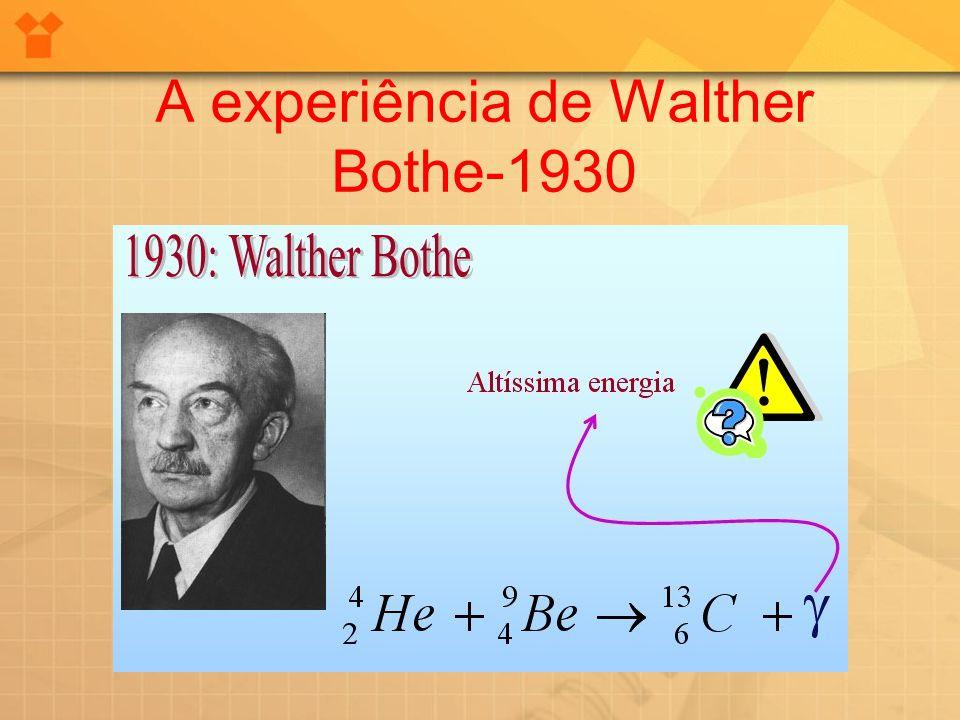 A experiência de Walther Bothe-1930