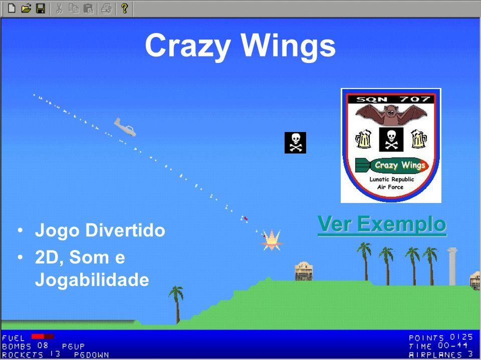 Crazy Wings Jogo Divertido 2D, Som e Jogabilidade Ver Exemplo Ver Exemplo