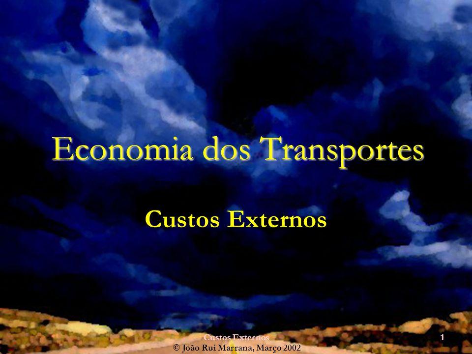 Custos Externos1 Economia dos Transportes Custos Externos © João Rui Marrana, Março 2002