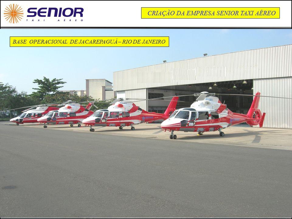 26 BASE OPERACIONAL DE JACAREPAGUÁ – RIO DE JANEIRO CRIAÇÃO DA EMPRESA SENIOR TAXI AÉREO