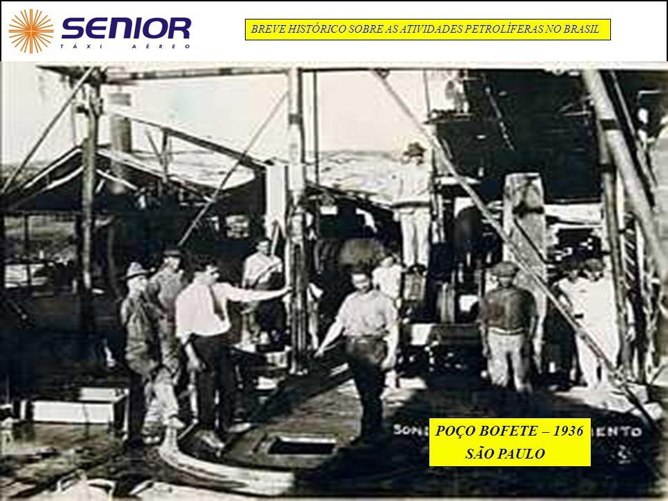 6 BREVE HISTÓRICO SOBRE AS ATIVIDADES PETROLÍFERAS NO BRASIL POÇO BOFETE – 1936 SÃO PAULO