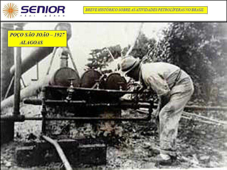 7 BREVE HISTÓRICO SOBRE AS ATIVIDADES PETROLÍFERAS NO BRASIL POÇO SÃO JOÃO – 1927 ALAGOAS