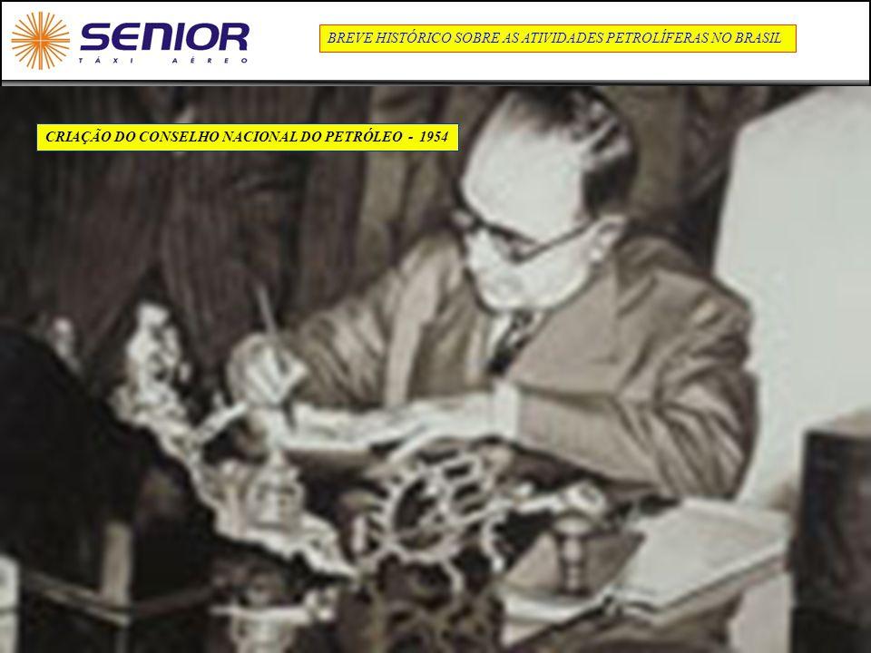 8 CRIAÇÃO DO CONSELHO NACIONAL DO PETRÓLEO - 1954 BREVE HISTÓRICO SOBRE AS ATIVIDADES PETROLÍFERAS NO BRASIL