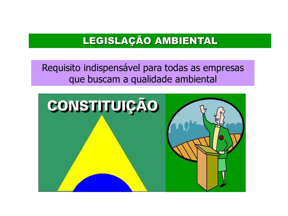 LEGISLAÇÃO AMBIENTAL Requisito indispensável para todas as empresas que buscam a qualidade ambiental