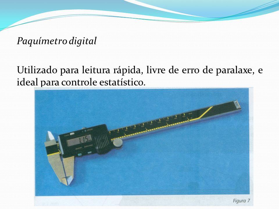 Traçador de altura Esse instrumento baseia-se no mesmo princípio de funcionamento do paquímetro, apresentando a escala fixa com cursor na vertical.