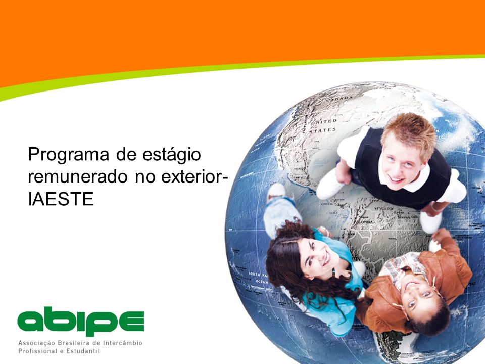 Programa de estágio remunerado no exterior- IAESTE