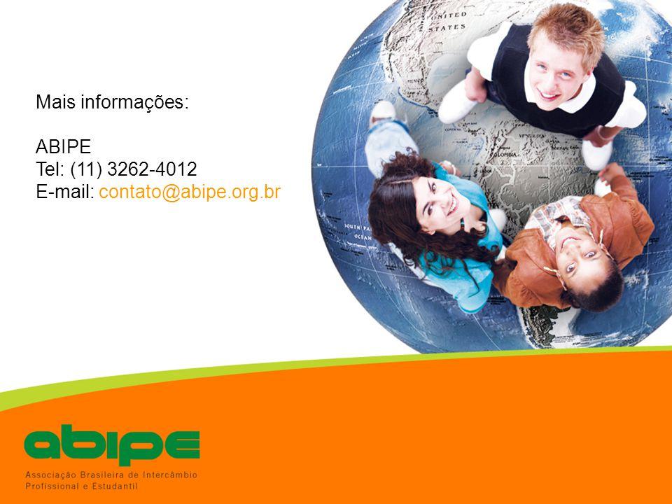 Mais informações: ABIPE Tel: (11) 3262-4012 E-mail: contato@abipe.org.br
